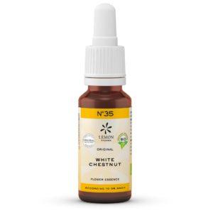 Lemon Pharma Gouttes de Fleurs de Bach Original n°35 White Chestnut Marronnier blanc Pensées