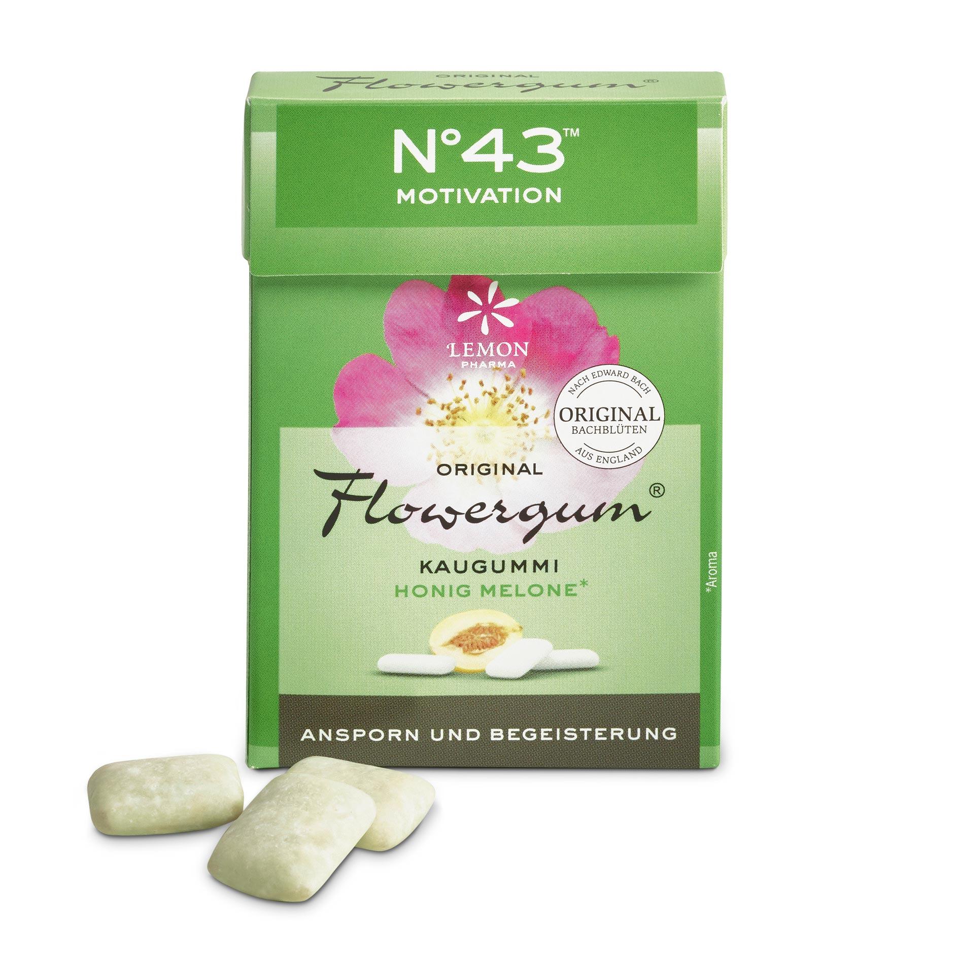 Flowergum 43 Motivation Lemon Pharma Original Bach Flowers Fleurs de Bach Motivation et enthousiasme Murnauer