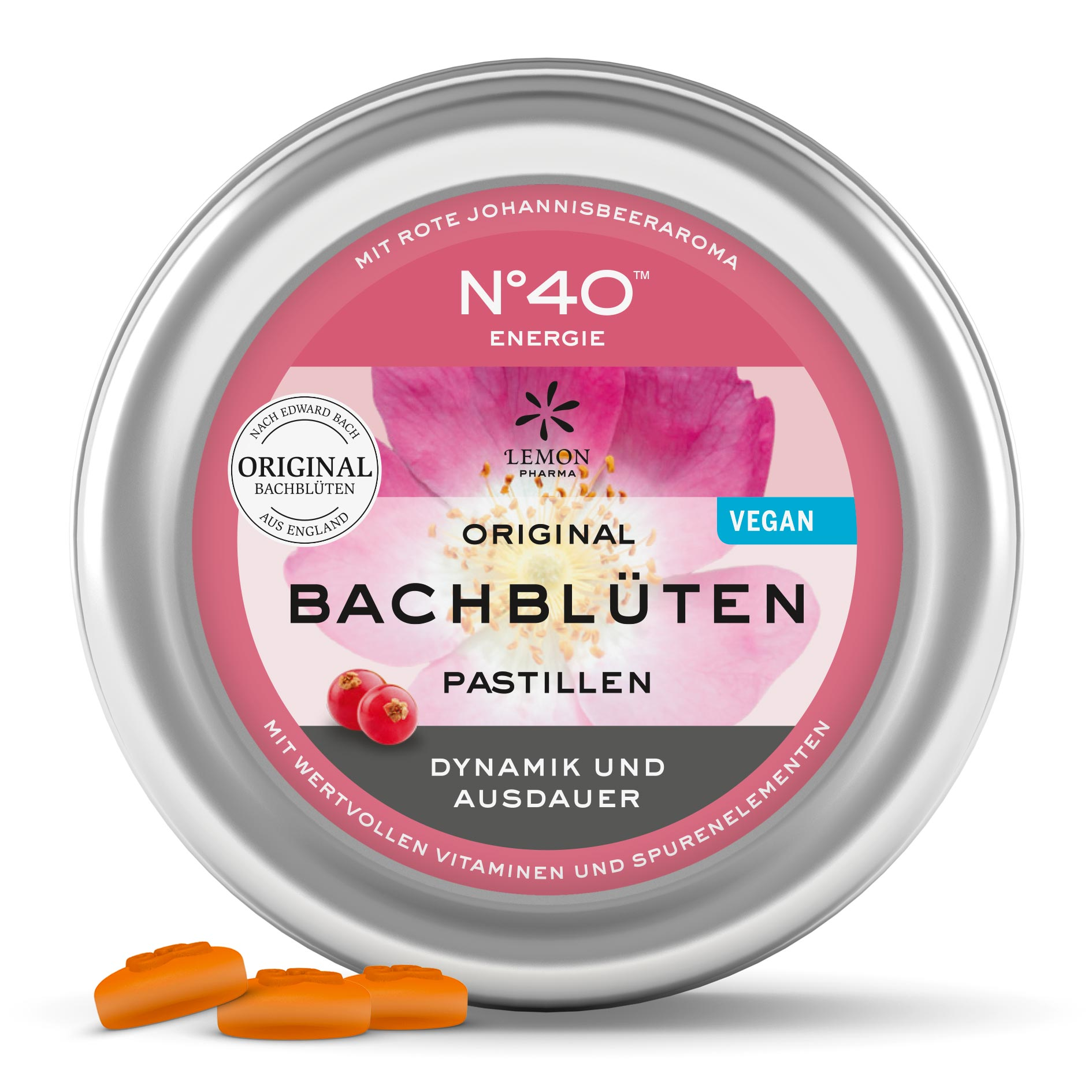 Lemon Pharma Original Bachblüten Nr 40 Energie Pastillen Dynamik und Ausdauer