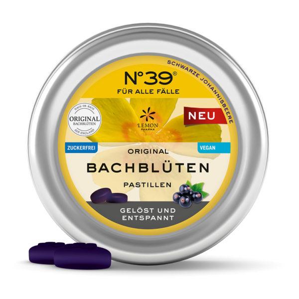 N°39 Pastillen Schwarze Johannisbeere FÜR ALLE FÄLLE Original Bachblüten original Bach Flower Lemon Pharma Resche Gelöst und Entspannt